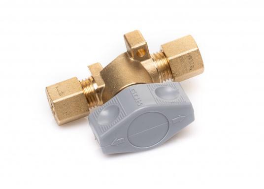 Dieses Sicherheits-Schnellverschluss-Absperrventil ist geeignet für 8 mm Rohre bzw. Schläuche mit Rohr-Endstücken. (Bild 2 von 5)