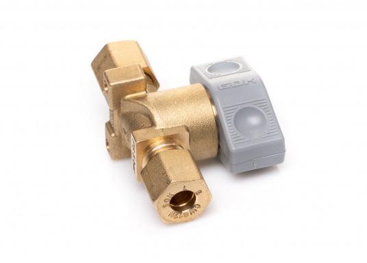 Dieses Sicherheits-Schnellverschluss-Absperrventil ist geeignet für 8 mm Rohre bzw. Schläuche mit Rohr-Endstücken. (Bild 4 von 5)