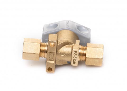 Dieses Sicherheits-Schnellverschluss-Absperrventil ist geeignet für 8 mm Rohre bzw. Schläuche mit Rohr-Endstücken. (Bild 5 von 5)