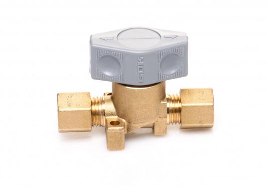 Dieses Sicherheits-Schnellverschluss-Absperrventil ist geeignet für 8 mm Rohre bzw. Schläuche mit Rohr-Endstücken. (Bild 3 von 5)