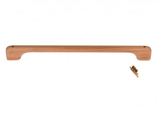 Handgriffe aus hochwertigem Teakholz. Abmessungen, Höhe: 6 cm, Breite: 2,5 cm. Erhältlich in verschiedenen Längen. Lieferung inklusive Schrauben und Stopfen. (Bild 9 von 9)