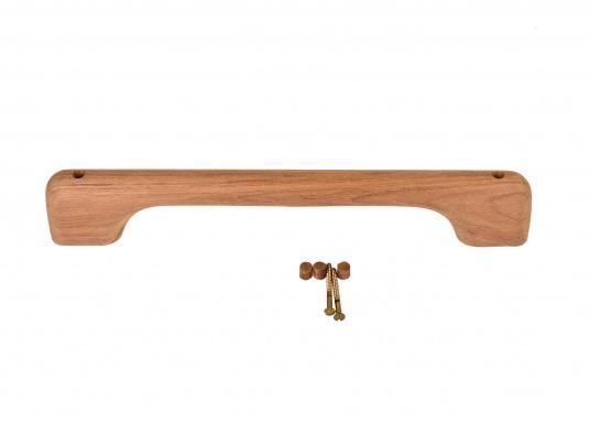 Handgriffe aus hochwertigem Teakholz. Abmessungen, Höhe: 6 cm, Breite: 2,5 cm. Erhältlich in verschiedenen Längen. Lieferung inklusive Schrauben und Stopfen. (Bild 6 von 9)
