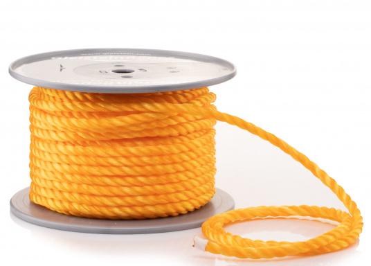 Preisgünstiges Tauwerk - ideal als Notpack oder Absperrleine. Gefertigt ausPP-Monofill-Tauwerk für untergeordneten Einsatz. In verschiedenenTau-Ø erhältlich.
