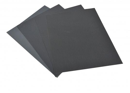 Hochleistungs- / Nassschleifpapier. Bogengröße: 230 x 280 mm. Lieferbar in verschiedenen Körnungen. Preis per Bogen.  (Bild 2 von 2)
