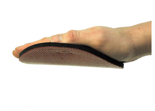 Flexibler Handschleifteller, kletthaftend. Durchmesser: 150 mm.