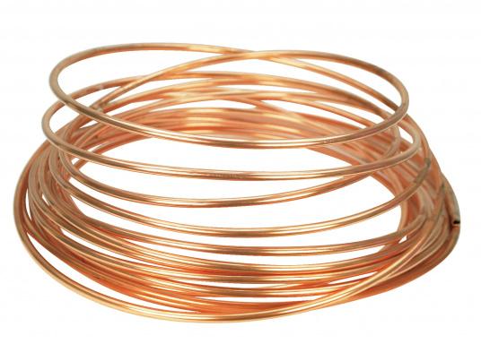 Vielseitig einsetzbares Kupferrohr. Erhältlich in zwei Ausführungen: Ø 8 x 1 mm und Ø 10 x 1 mm.