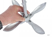 Folding Grapnel Anchor - Galvanized Steel