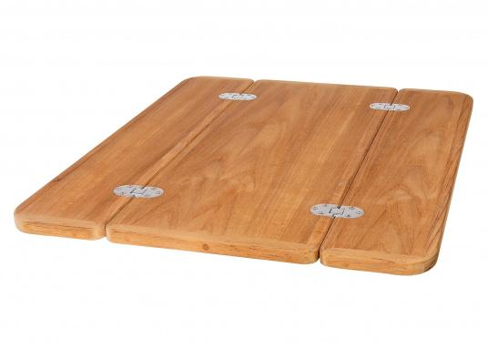 The Solid Wood Tabletops Have A Noble Teak Veneer. Available In Various  Sizes.