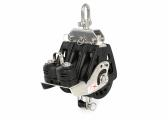 Triple Block with Swivel and Cleat / 6 mm / plain bearing