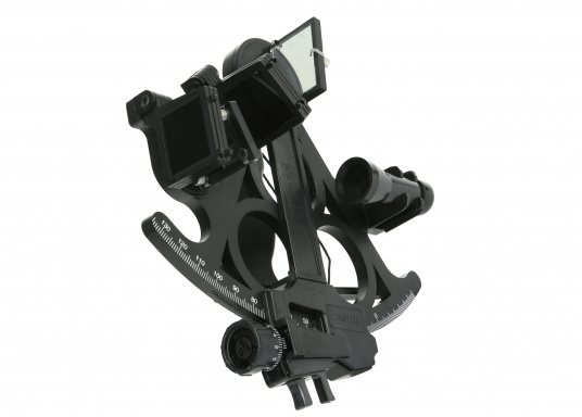 Reliable sextant, made of fiberglass-reinforced plastic.
