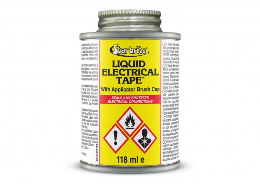 Liquid Electrical Tape – ein flüssiges Isolierband. Einfach über blanke Kabelstellen, Lüsterklemmen etc. tropfen und es bildet sich innerhalb von 5 Minuten eine starke Isolierung.