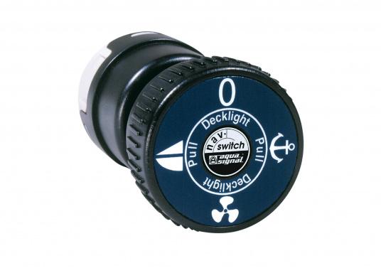 Alles in Einem! Mit dem NAV-Switch können SieNavigations-, Arbeits- und Instrumentenbeleuchtungschalten. Der Schalter wird am Motorpanel montiert und erlaubt so dem Rudergänger in jeder Situation die richtige Lichtführung.