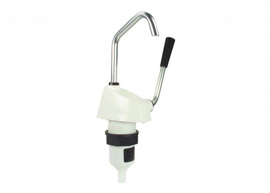 Selbstansaugende Hebelarmpumpe für leichtgängiges Pumpen von Salz oder Seewasser. Drehbarer Auslass.  (Bild 2 von 3)