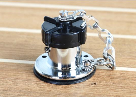 Diese Steckverbindungen aus Messing, verchromt sind gut geeignet für den Anschluss von Positionslaternen, Scheinwerfern etc. Sie sind wasserdicht und seewasserfest. Erhältlich in verschiedenen Ausführungen.  (Bild 4 von 6)