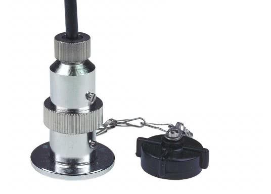 Diese Steckverbindungen aus Messing, verchromt sind gut geeignet für den Anschluss von Positionslaternen, Scheinwerfern etc. Sie sind wasserdicht und seewasserfest. Erhältlich in verschiedenen Ausführungen.  (Bild 2 von 6)