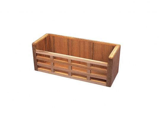 Keep it tidy on board! This teak rack keeps equipment inplace duringany sea conditions. Dimensions: 28 x 10 x 10.5 cm.  (Image 3 of 3)