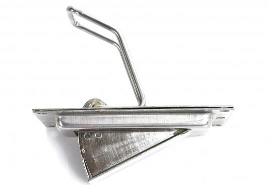 Stabiles, aus rostfreiem Edelstahl hergestelltes Selbstlenz-Ventil SUPER MINI für den Einbau in Jollen, offenen Booten, Motorgleitern etc. Passend für Rumpfstärken 3 - 7 mm.  (Bild 2 von 4)