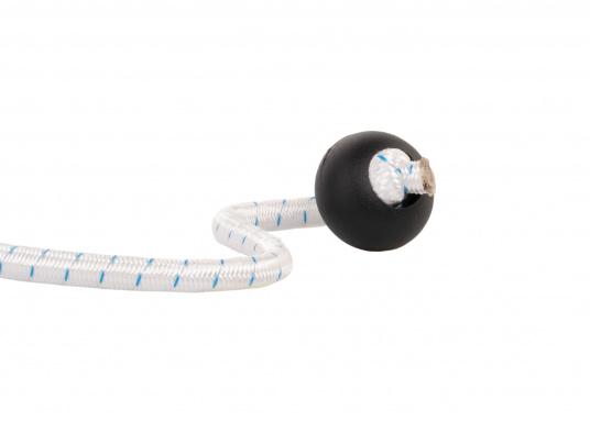 Praktische Kunstoff-Griffkugel, geeignet für 8 mm Gummiseil oder Tau. Das Seil kann ganz einfach in die Kugel eingefädelt werden, nur noch einen Knoten in das Ende machen –fertig!  (Bild 2 von 6)