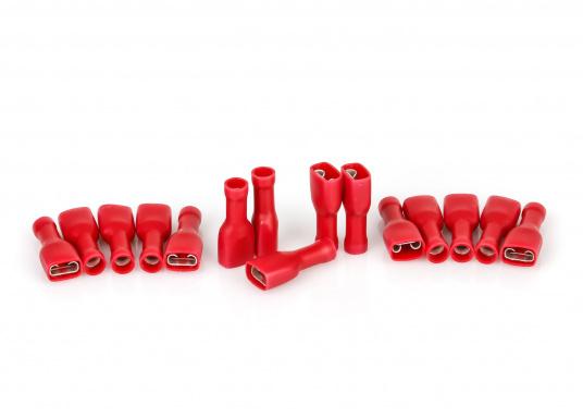 Diese praktischen Flachsteckhülsen sind vollisoliert. Lieferbar in drei verschiedenen Größen und Farben.  (Bild 3 von 4)