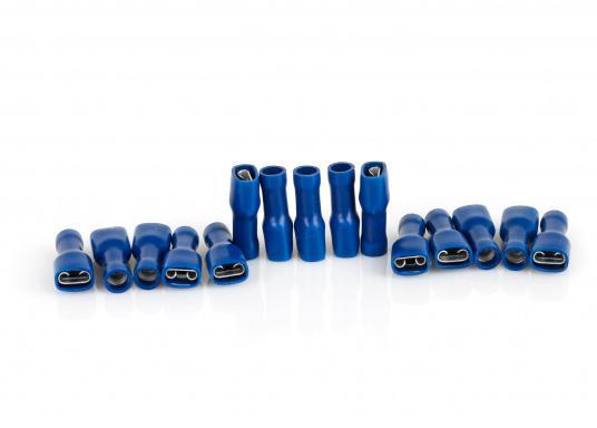 Diese praktischen Flachsteckhülsen sind vollisoliert. Lieferbar in drei verschiedenen Größen und Farben.  (Bild 4 von 4)
