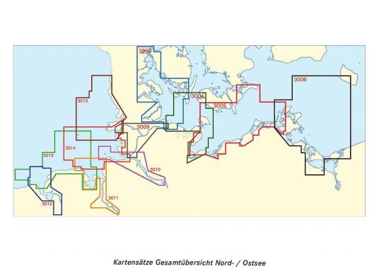 Die offiziellenBSH-Sportbootkartensätze für Nord- und Ostsee bieten zuverlässige Informationen aus erster Hand!Lieferung der Karten im handlichen DIN A2 Format für den Einsatz auf der Yacht.  (Bild 2 von 13)