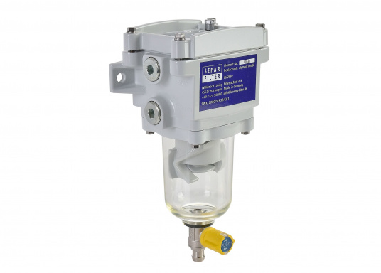 The SEPAR SWK 2000 is a water separator and filter for light diesel fuel. GL, Lloyds, RINA, TÜV-tested. Available in various versions.