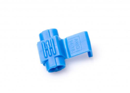 Zum schnellen und sicheren Verbinden von Kabeln. Durch spezielle Messerkontakte ist das Abisolieren überflüssig. Erhältlich in zwei Größen und Farben. (Bild 3 von 4)