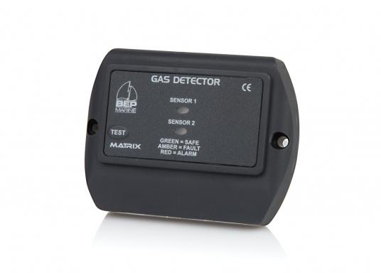 Gasdetektor 600-GDmit integriertem optischen/akustischen Alarm für IhreSicherheit! Überwachen SieGaskiste, Flaschenstauraum,Bilge bzw. den Bereich unter dem Kocher/Herd. Der 600-GD mitZweikreisüberwachung sowieAnschlüssefür Zweitsensor und optionalemZubehör (Alarmgeber,Lüfter, etc.) für höchste Sicherheit.