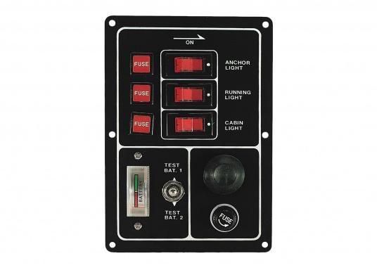 Quadro di comando con interruttori e pulsante corno e voltmetro
