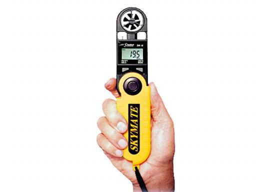Der SKYMATE SM-18 ist ein qualitativ hochwertiger Windmesser mit hervorragenden Eigenschaften. Er bietetMessung von Maximum und Durchschnittswerten. Genauigkeit: +/-3%, Anzeige: kn, Bft, m/s, km/h, °C, °F. (Bild 2 von 6)