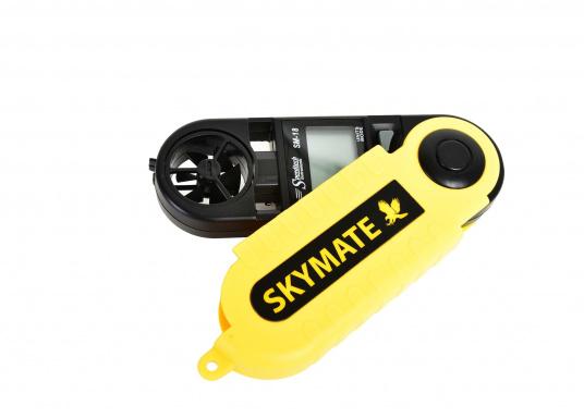 Der SKYMATE SM-18 ist ein qualitativ hochwertiger Windmesser mit hervorragenden Eigenschaften. Er bietetMessung von Maximum und Durchschnittswerten. Genauigkeit: +/-3%, Anzeige: kn, Bft, m/s, km/h, °C, °F. (Bild 4 von 6)