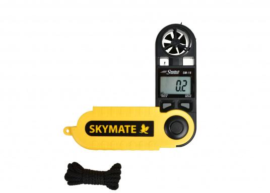 Der SKYMATE SM-18 ist ein qualitativ hochwertiger Windmesser mit hervorragenden Eigenschaften. Er bietetMessung von Maximum und Durchschnittswerten. Genauigkeit: +/-3%, Anzeige: kn, Bft, m/s, km/h, °C, °F.