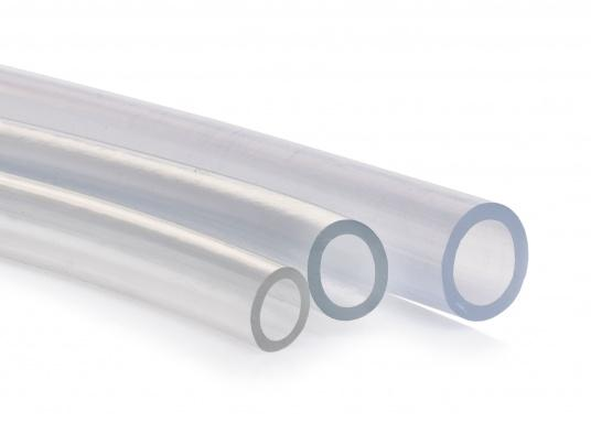 Kristallklarer PVC-Schlauch, ideal als Wasserschlauch geeignet. Lieferbar in verschiedenen Größen.