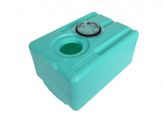 Stabile Tanks aus hochwertigem und geschmacksneutralem Kunststoff. Mit CE-Zulassung. Die Tanks werden mit einem Handlochdeckel geliefert. Als Anschluss können an beliebiger Stelle Stutzen in den Tank eingesetzt werden. Lieferbar in verschiedenen Größen.  (Bild 6 von 11)