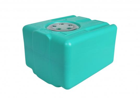 Stabile Tanks aus hochwertigem und geschmacksneutralem Kunststoff. Mit CE-Zulassung. Die Tanks werden mit einem Handlochdeckel geliefert. Als Anschluss können an beliebiger Stelle Stutzen in den Tank eingesetzt werden. Lieferbar in verschiedenen Größen.  (Bild 5 von 11)