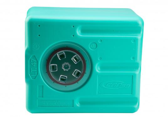 Stabile Tanks aus hochwertigem und geschmacksneutralem Kunststoff. Mit CE-Zulassung. Die Tanks werden mit einem Handlochdeckel geliefert. Als Anschluss können an beliebiger Stelle Stutzen in den Tank eingesetzt werden. Lieferbar in verschiedenen Größen.  (Bild 8 von 11)