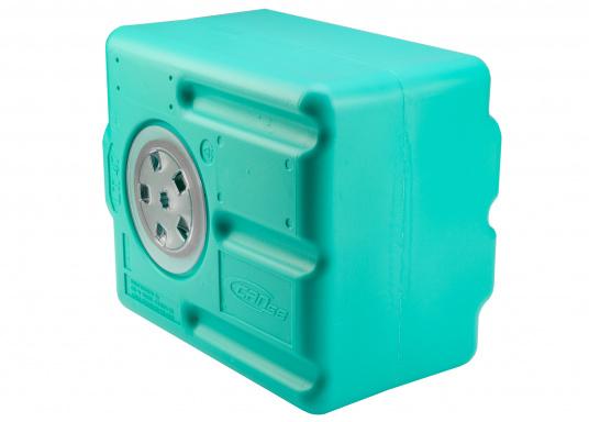 Stabile Tanks aus hochwertigem und geschmacksneutralem Kunststoff. Mit CE-Zulassung. Die Tanks werden mit einem Handlochdeckel geliefert. Als Anschluss können an beliebiger Stelle Stutzen in den Tank eingesetzt werden. Lieferbar in verschiedenen Größen.  (Bild 9 von 11)