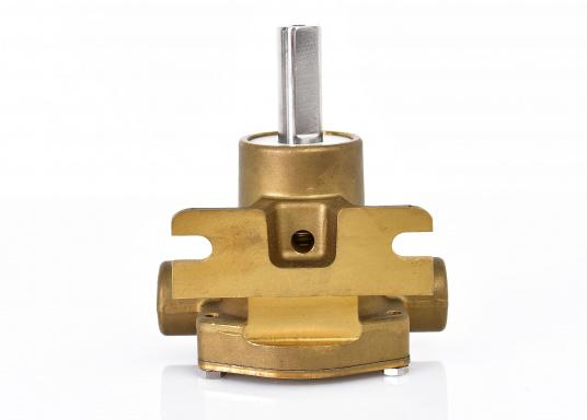 Riemenangetriebene Pumpen mit freiem Wellenende für Sockelmontage. Ausgestattet mit Neopren-Impeller für den Einsatz als See- oder Frischwasserpumpe. Lieferung in verschiedenen Ausführungen.  (Bild 3 von 12)