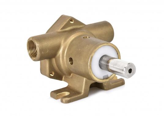 Riemenangetriebene Pumpen mit freiem Wellenende für Sockelmontage. Ausgestattet mit Neopren-Impeller für den Einsatz als See- oder Frischwasserpumpe. Lieferung in verschiedenen Ausführungen.