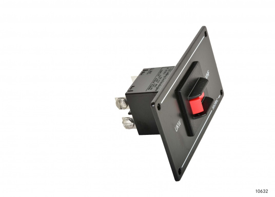 Zweipoliger Sicherungsautomat für UKW-Seefunkanlagen mit Postzulassung mit Schaltern in der bewährten CARLINGSWITCH-Qualität.  (Bild 2 von 6)