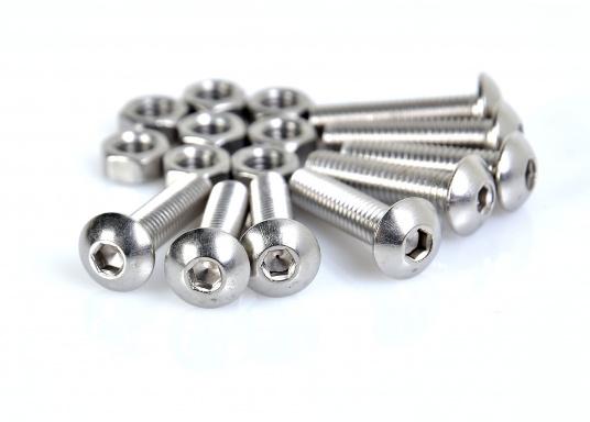 Auf diese Schrauben können Sie sich verlassen! Die V4A Innensechskantschrauben mit Flachrundkopf halten besonders fest. Erhältlich in verschiedenen Größen. (Bild 2 von 3)