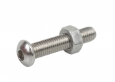 V4A Socket Screws with Button Head