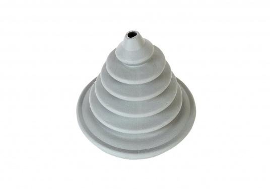Faltenbälge aus hochwertigem Polyurethan-Gummi für die Durchführung von Steuerkabeln, Elektroleitungen und Benzinschläuchen. Ein Kabelschutzsystem ist separat erhältlich. (Bild 3 von 16)
