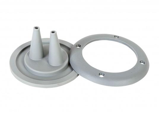 Faltenbälge aus hochwertigem Polyurethan-Gummi für die Durchführung von Steuerkabeln, Elektroleitungen und Benzinschläuchen. Ein Kabelschutzsystem ist separat erhältlich. (Bild 7 von 16)