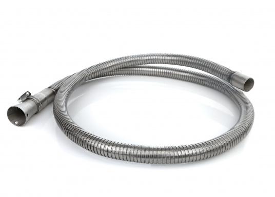 Hochflexibler Abgasschlauch - speziellfür die Honda-Stromerzeuger EX7, EU 10i und EU 20i entwickelt. Der 1,50 m lange Schlauch ist leicht montierbar und wird inklusive V2A Anschlussadapter, Schelle und Schrauben geliefert.
