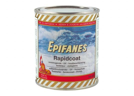 RAPIDCOAT ist ein schnelltrocknendes, leicht pigmentiertes UV-beständiges Seidenmatt-Finish auf Urethan / Alkydharzbasis.Es sorgt für einen exzellenten Schutz unter allen Klimabedingungen und ist extrem witterungsbeständig.