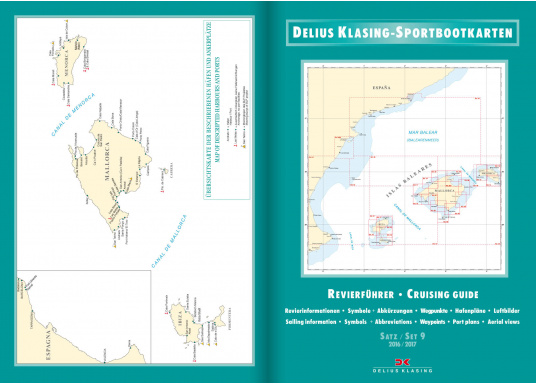 DK Chart Pack 9 -Balearic Islands: Mallorca, Ibiza, Menorca, Formentera. 4 passage charts, 20 charts, 33 marina charts, waypoints list.  (Image 2 of 6)