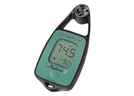 Sehr gute Messwerte bei geringen Abmessungen! Anzeige der Windgeschwindigkeit, Speicher für Wind-Max-Wert, Messung der Fließgeschwindigkeit, Messung der Temperatur.