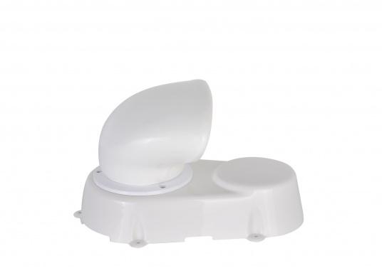 Lüfter aus robustem Kunststoff, absolut wasserdicht. Lieferumfang komplett mit Lüfter, Lüfter-Manschette, Verschlussklappe und Schutzmuffe für den Ausschnitt. Erhältlich in zwei Größen.  (Bild 5 von 7)