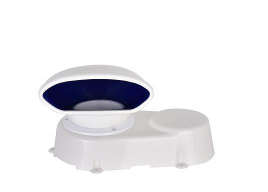 Lüfter aus robustem Kunststoff, absolut wasserdicht. Lieferumfang komplett mit Lüfter, Lüfter-Manschette, Verschlussklappe und Schutzmuffe für den Ausschnitt. Erhältlich in zwei Größen.  (Bild 4 von 7)